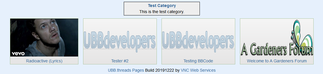 UBB.threads Pages - Page Listing as Islands