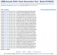UBB.threads SHA1 Hash Generation Tool